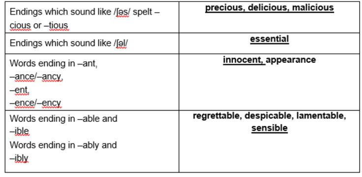 y5-spellings